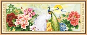 Tranh đính đá Vinh hoa phú quý mã 77682